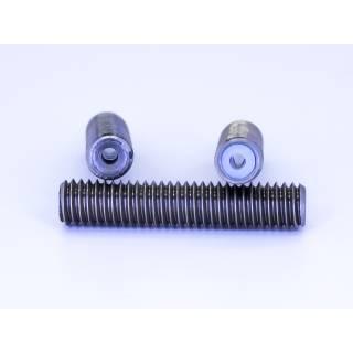 Isoliertes Zuführrohr/Throat für 1,75 mm Filament mit PTFE Inlay 30mm M6