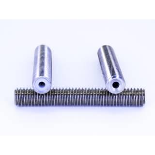 Isoliertes Zufuhrrohr / Throat für 1,75 mm Filament mit PTFE Inlay 40mm M6