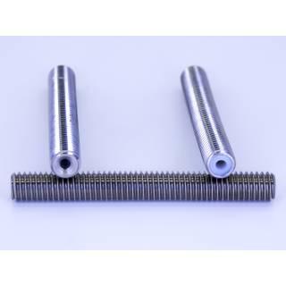 Isoliertes Zufuhrrohr / Throat für 1,75 mm Filament mit PTFE Inlay 50mm M6