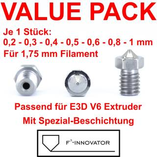3D Drucker Düse V6 3mm Filament 0,2mm Düse Messing beschichtet