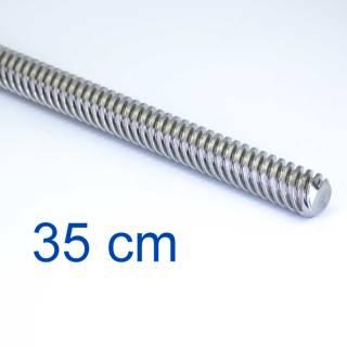 Trapezgewindespindel TR8 -  35 cm / 350 mm Länge -  Mit Mutter