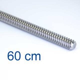 Trapezgewindespindel TR8 -  60 cm / 600 mm Länge -  Mit Mutter