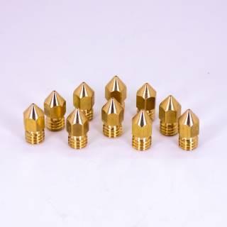 10 Stück MK8 Düse 0,4mm für 1,75mm Filament - Messing